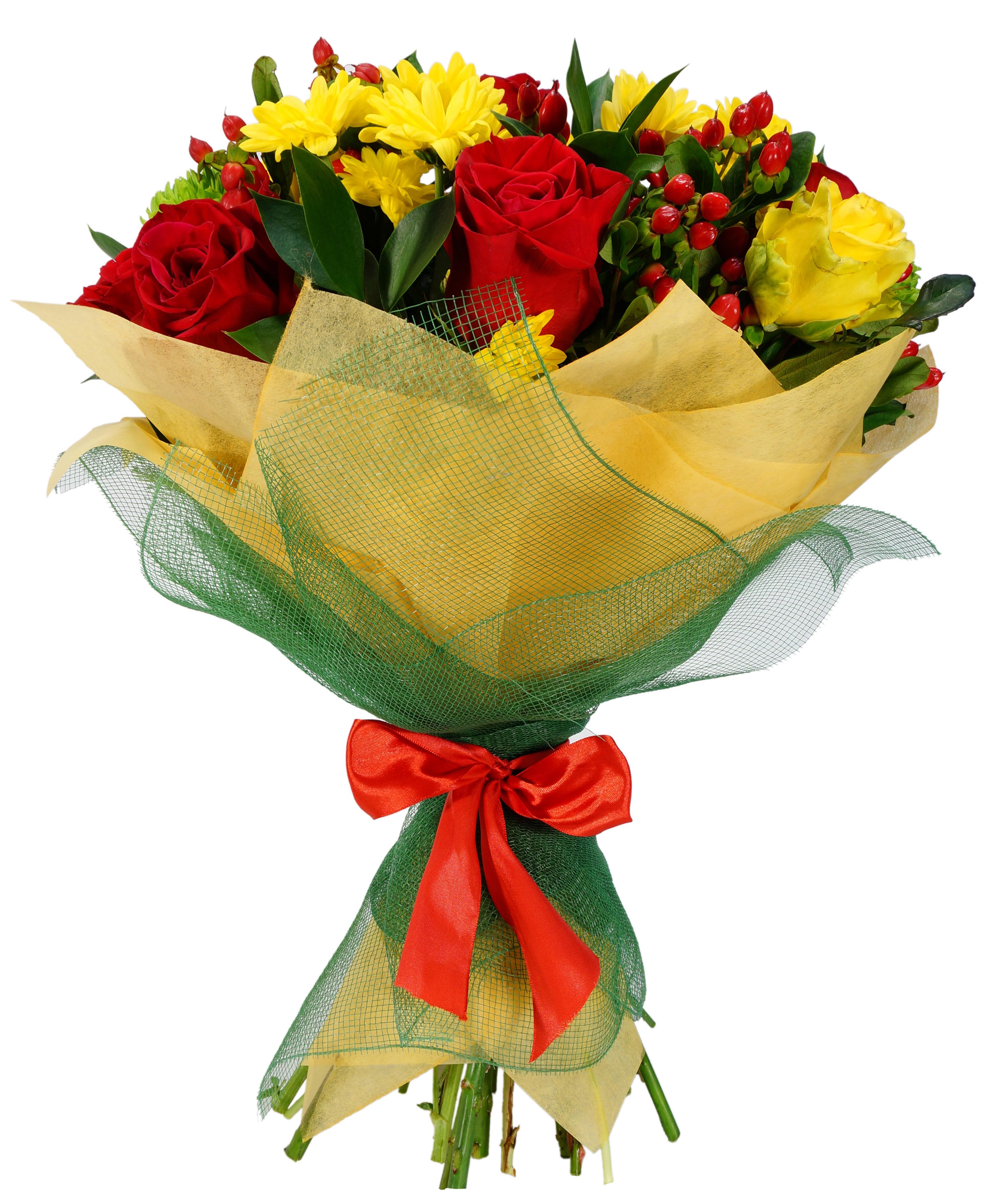 Букеты из роз и хризантем своими руками фото