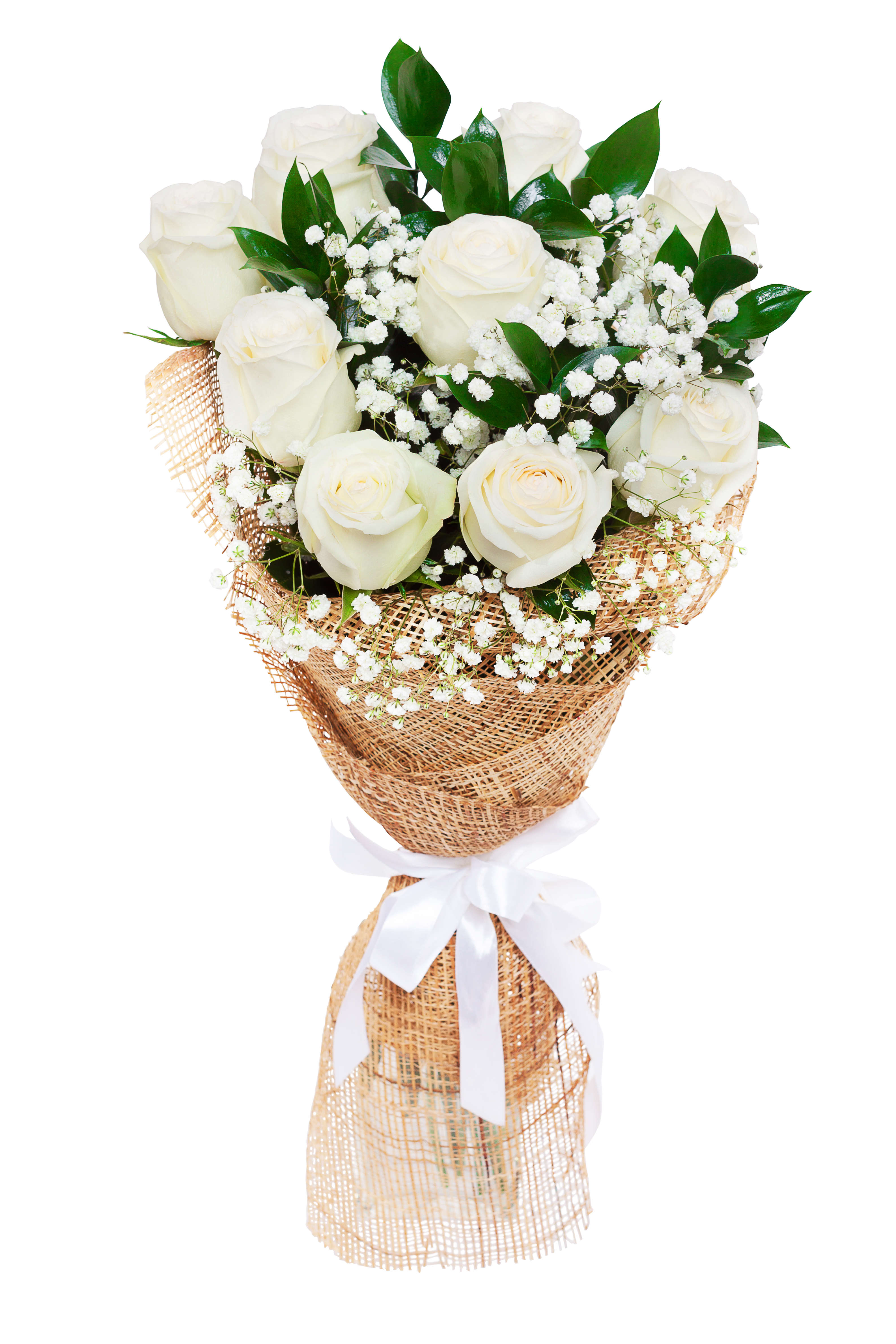 Roses dhalia fleuriste bouquet of beautiful white roses isolated on white a great gift to a woman for izmirmasajfo